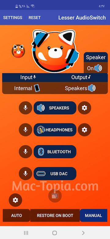 تغيير ملحقات إصدار الصوت من السماعات إلى الأبواق وغيرها lesser audioswitch, تنزيل lesser audioswitch, تنزيل lesser audioswitch مجانًا, lesser audioswitch apk, lesser audioswitch apk تنزيل